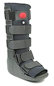 Indicated for the treatment of sprains, stable FX, and other injuries of the ankle & foot Upgraded pneumatic system Quick Release air valve for enhanced compression and pain relief (Accommodates swelling patterns throughout the rehabilitation process...