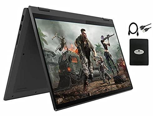 "2021 Newest Lenovo Flex 5 14"" 2-in-1 Touchscreen Laptop, Octa-core AMD Ryzen 7 5700U(Beat i7-10750H), 16GB RAM 1TB PCIe SSD, Backlit Keyboard Fingerprint Reader, Win 10 w/Ghost Manta Accessories"