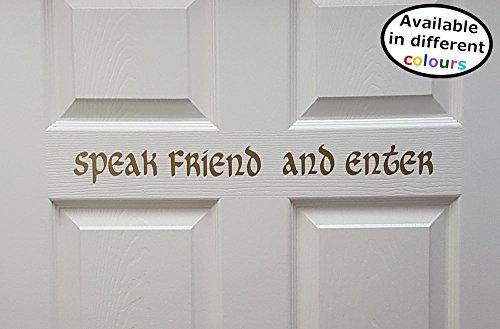 Spreek vriend en voer Sticker Decal - HSS027 door Happy Snail Stickers
