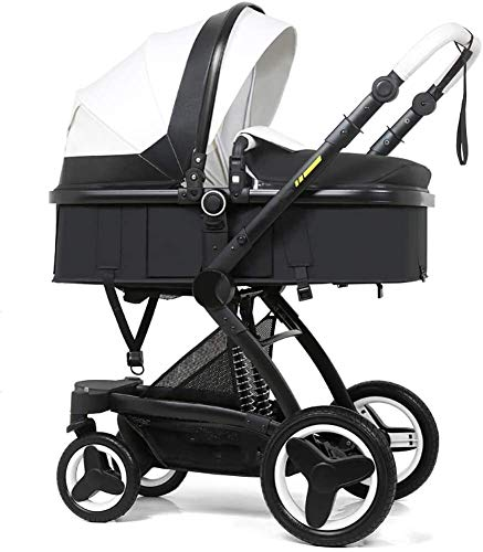 BESTPRVA Portátil cochecito de bebé del carro de bebé del cochecito del cochecito de bebé, cochecito convertible reclinable, plegable y portátil del cochecito de niño del carro antichoque Silla de pas