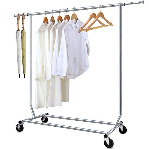Camabel Clothing Garment Rack Heavy Duty Adjustable Rolling...