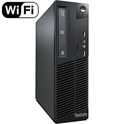 Lenovo ThinkCentre M72e High Performance Small Form Factor Desktop Computer, Intel Dual Core i3-3220 3.3Ghz CPU, 8GB RAM, 500GB HDD, DVD RW, Windows 10 Professional (Renewed)