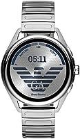 Emporio Armani Men's Multicolor Dial Stainless Steel Digital Smartwatch - ART5026