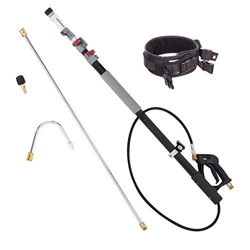5m MAX Teleskop Lanze Arm Teleskopstrahlrohr mit Düse und Gürtel für Kärcher Hochdruckreiniger M22 Teleskoplanze Winkellanze