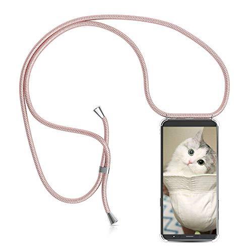 YuhooTech Handykette Hülle Kompatibel mit Samsung Galaxy A6 Plus Handyhülle, Smartphone Necklace Hülle mit Band - Handyhülle mit Kordel Umhängenband - Schnur mit Hülle zum umhängen