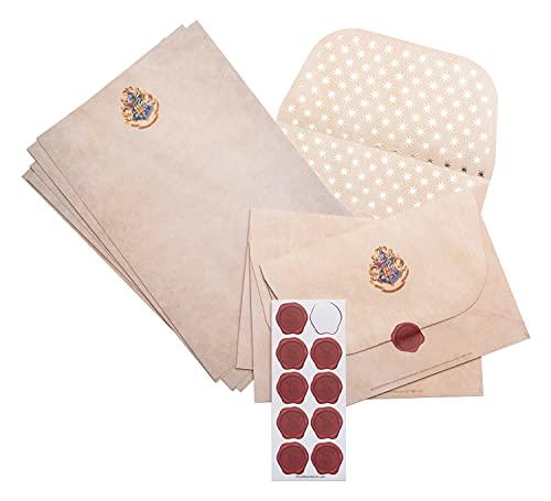 Grupo Erik - Ensemble de Papier à Lettres Harry Potter | Papeterie Harry Potter | Lettres et Enveloppes Harry Potter