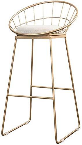 WWW-DENG barkruk, modern, high kruk, keuken, pub, met stoel en rugleuning, voetensteun met voeten van goudkleurig metaal, kruk, meubelteller