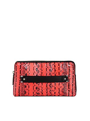 MILLY Mercer Snakeskin Clutch