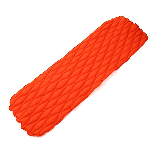 Camping Mat Durable Lightweight Camping Mat Inflatable Air Mattresses Sleeping Mat Pad Moisture-proof Camping Mat for Backpacking,Camping,Hiking (Color : Orange, Size : 190x65x5cm)