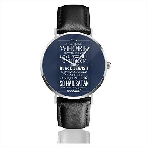 Unisex Business Casual Harry Hart Zitat Kingsman Uhren Quarz Leder Uhr mit schwarzem Lederband für Männer Frauen Junge Kollektion Geschenk