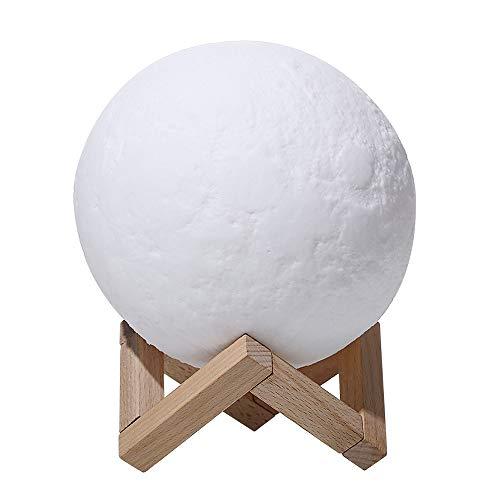 YLSMN Impresión 3D luz de luna carga creativa LED control remoto luz sensor táctil cama ahorro de energía noche luz regalo lampara