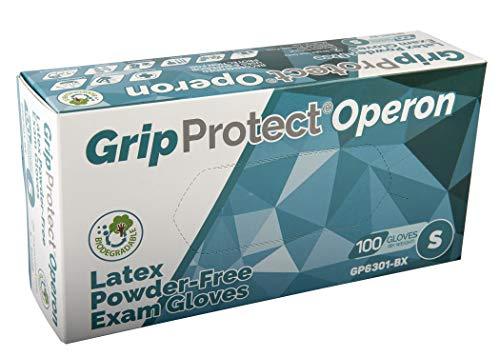 Disposable Medical and Dental, Powder Free Latex Examination Gloves (100, Small)