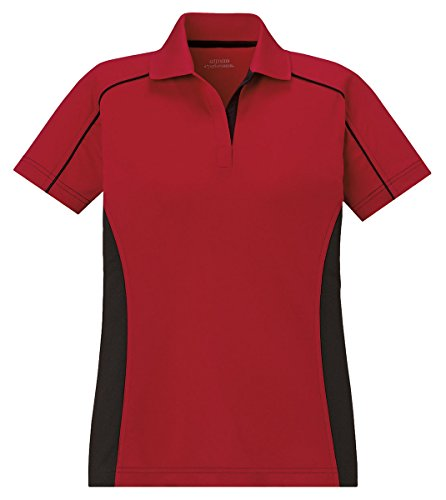 Extreme Fuse Polos Ladies'Snag Protection Plus Color-Block Polos (75113) -CLASSIC RED -S