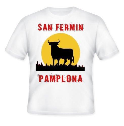 San Fermin Festival Pamplona–Amazing Camiseta de S Blanco Weiß
