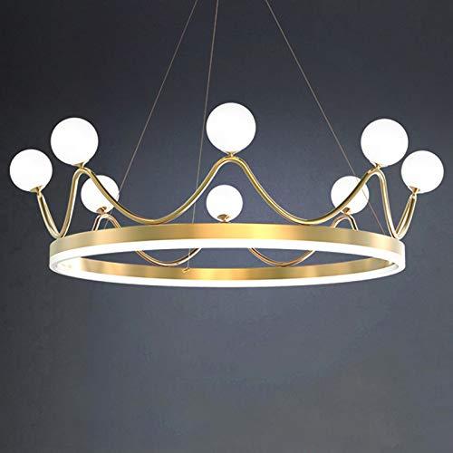 HQQ Lujo de Lujo Moderno Lámpara de Techo LED Iluminación con diseño de Corona para Sala de Estar Dormitorio Lámpara para niños (Size : 8 Heads)