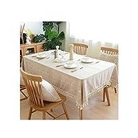 テーブルクロス 洗える綿刺繍市松デザインテーブルクロス、長方形のテーブルカバーキッチンダイニングテーブルトップビュッフェの装飾に最適 (Color : B, Size : 130*180cm)