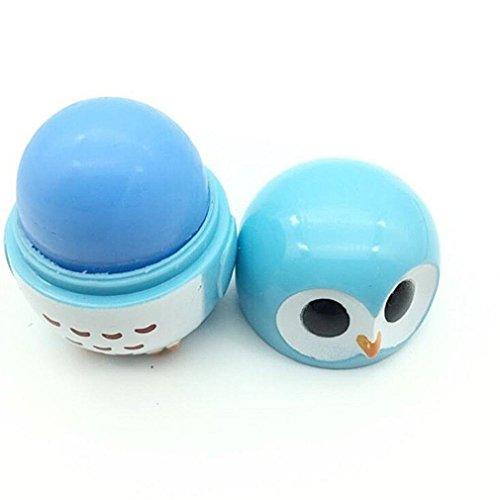 LadyBeauty - Bálsamo labial de crema para labios, planta natural, con bonito dibujo de búho hidratante, cuidado de labios nutritivos