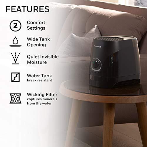 Honeywell Cool Moisture Humidifier, Black, 7