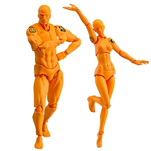 Proglam 2-teiliges Set Light Body Chan & Kun PVC Movebale Action-Figur Modell für SHF Version 2.0 Geschenke für Kinder