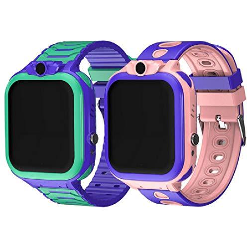 QWERASD 4G Smart GPS-horloge voor kinderen, lange wachttijd, SOS-ondersteuning voor het touchscreen, tweewegs-oproepen, verjaardagscadeau