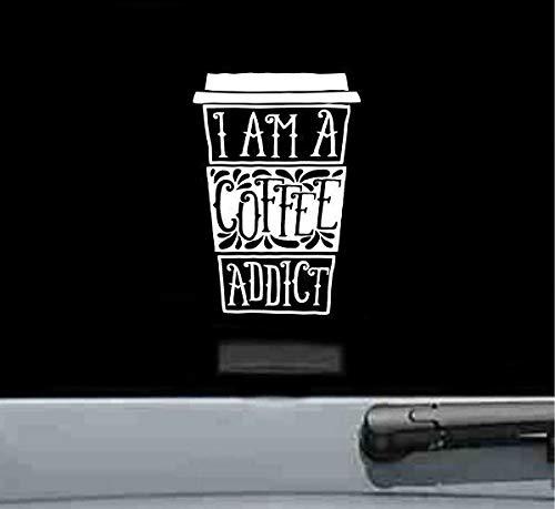 Ik ben een koffie verslaafd Vinyl Sticker grappige pers machine bonen filter schattig