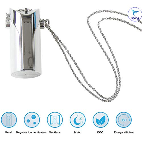 Best Price! Portable Wearable Necklace Air Purifier, Home Mini Air Lonizers, Hang Neck Personal USB ...