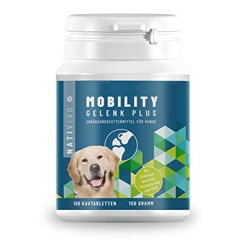NatiVivo Grünlippmuschel (20%) Teufelskralle Hund + MSM | hochdosierte Gelenktabletten für Hunde | 100 STK. bis zu 6 Monate Vorrat | Einfache Futterzugabe