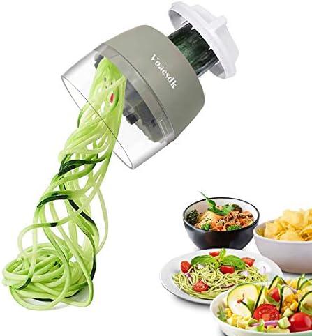 Voaesdk Handheld Spiralizer Vegetable Slicer 4 in 1 Heavy Duty Veggie Spiralizer Zucchini Spaghetti product image