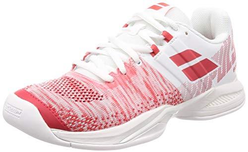 Babolat Damen Propulse Blast Tennisschuhe, Weiß (White/red 908), 38 EU