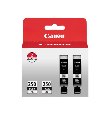 Canon PGI-250XL Black Twin Pack Compatible to MG6320, iP7220 & MG5420, MX922, MG7120, MG6420, MG5520, MG7520, MG6620, MG5620