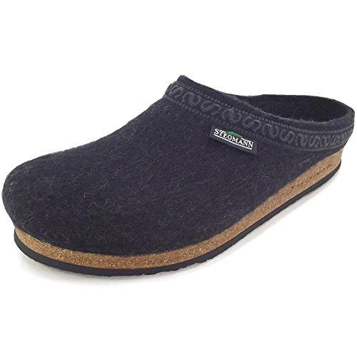 Stegmann 108 108 Unisex Wollfilz-Pantoffeln, Graphit, Gr. 49