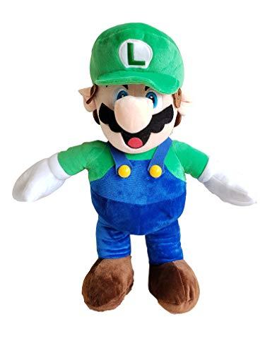 illuOKey Super Mario Plush Doll Mario Soft Stuffed Plush Toys - 16.5 inches (Luigi Doll)