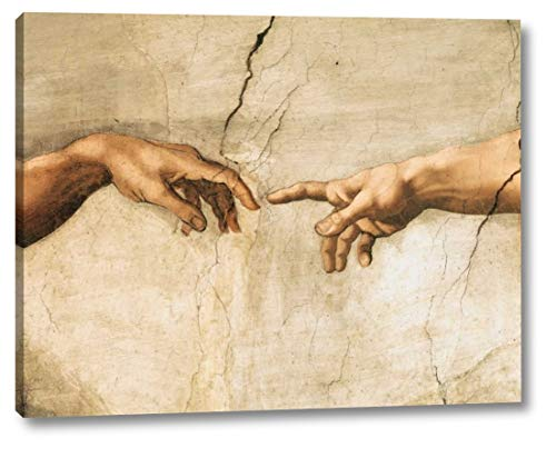 "La creazione di Adamo (Detail) by Michelangelo Buonarroti - 24"" x 30"" Canvas Art Print Gallery Wrapped - Ready to Hang"