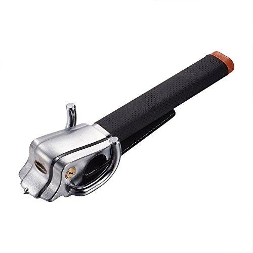 Blueshyhall Car Steering Wheel Lock, Anti-Theft Locking Devices Safety Hammer with 2 Keys, Universal...