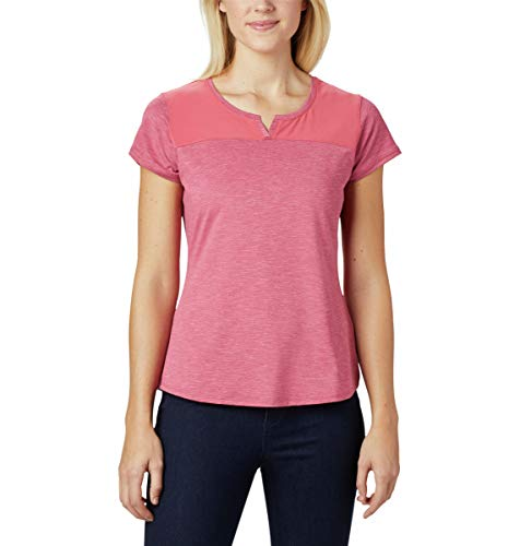 Columbia Place to Place II Damen-T-Shirt, kurzärmelig, Damen, 1885651, Rouge Pink Heather, m