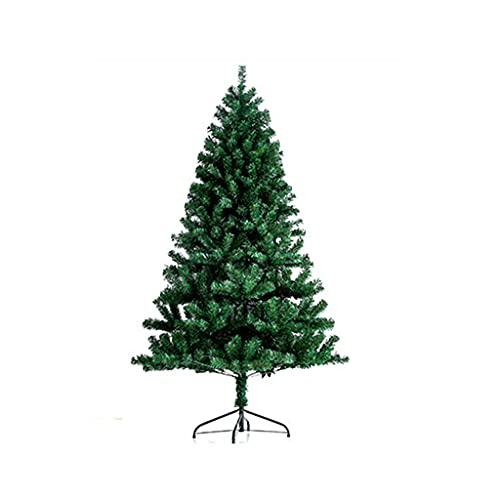 FLOOR Árbol de Navidad artificial de 1 m a 2,1 m sin luz. Hermoso árbol de nieve flocado hecho a mano, árbol de Navidad verde simulación, para el hogar, oficina, decoración de fiesta