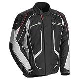 Tourmaster Advanced Men's Textile Motorcycle Jacket (Black/Grey, XX-Large)