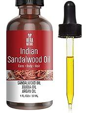 INDIAN SANDALWOOD ESSENTIAL OIL in Jojoba & Argan Oil, 100% Pure and Natural, powerful.