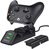 BEBONCOOL Xbox one Controller Charger 2 x 800mAh Rechargeable Battery Packs for Xbox One/One S/One X/Xbox Elite Controller Charging Station Xbox Dual Remote Charge Dock
