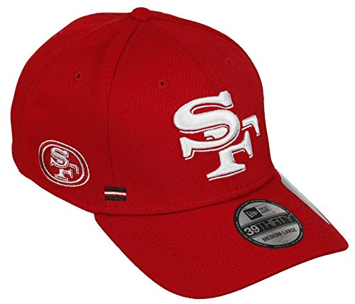New Era - NFL San Francisco 49ers Onfield 2020 Sideline Home 39Thirty Stretch Cap - Rot Farbe Rot, Größe M-L