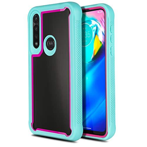 CasemartUSA Phone Case for [Motorola Moto G Power (XT2041)], [Fuze Series][Turquoise] Transparent Bumper Cover for (Tracfone, Straight Talk, Simple Mobile, Consumer Cellular, Verizon, Visible)