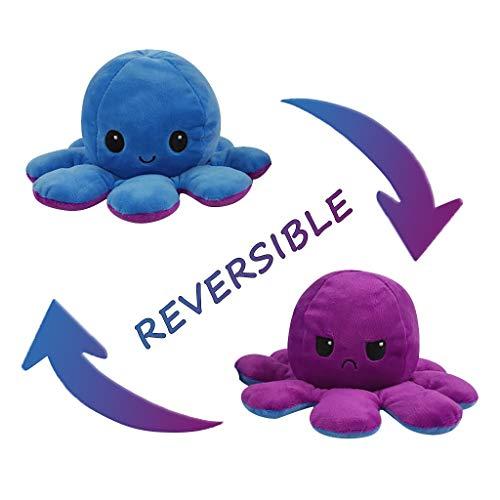 Flip Plüsch Oktopus Spielzeug Puppe Doppelseitiger Flip Reversibel Sanft Tintenfisch Kinder Süß Tier Cartoon Spielzeuge 1 Stück Geschenk Kinderspielzeug
