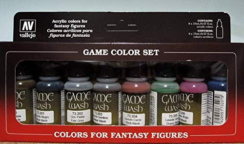 VALLEJO GAME COLOR SET 8 COLORES GAME, surtido (3073998)