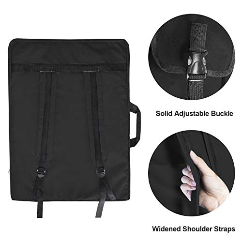 Reliancer Artist Portfolio Backpack and Tote 4K Waterproof Art Carrying Case Shoulder Bag Large Drawing Boards Bag w/Handle for Sketching Painting Art Supplies Storage Students Hobbyist Architect