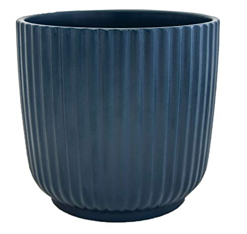 Ivyline Lecco Indoor Flower Pot Planter 13cm Teal Touch   Contempoary Design for your Home