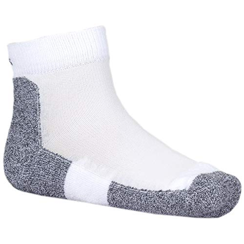 Thorlos Unisex LRMXM Light Running Thin Padded Ankle Sock, White, Medium