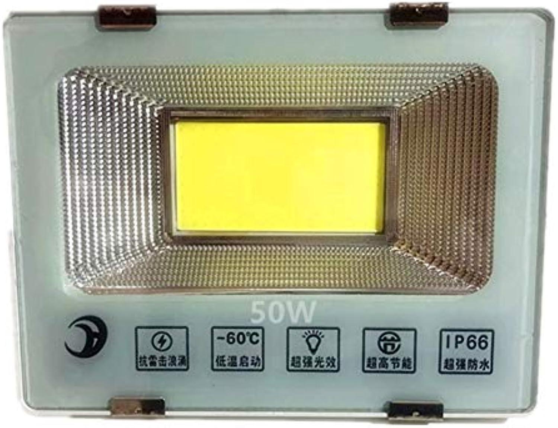 H-XH Strahler Mit,Outdoor Courtyard Engineering Projektionsleuchte Baustelle Sicherheitslampe (gre   50W)