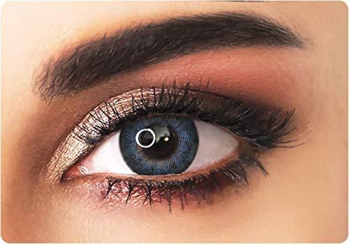 Farbige kontaktlinsen in BLAU mit dunklen Kreises- 3 Monaten- ohne Stärke + gratis Kontaktlinsenbehälte ADORE- Dare collection - DARE BLUE