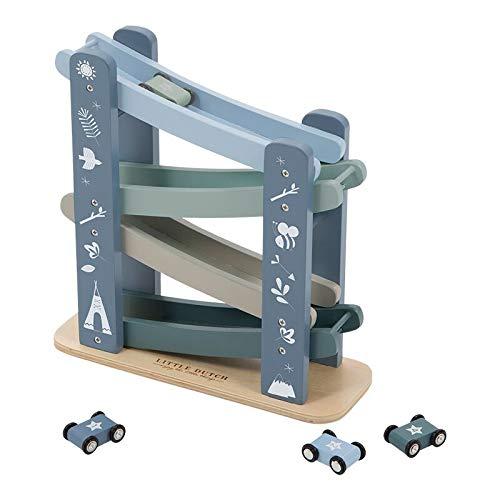Auto-Rennbahn aus Holz Blau - Little Dutch