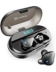 VANKYO X100ワイヤレスイヤホンIPX7防水 Bluetoothイヤホン完全ワイヤレスイヤホン Bluetooth 5.0 左右分離型 マイク内蔵 両耳通話Hi-Fi高音質CVC8.0ノイズキャンセリング自動接続 LEDディスプレイ電量表示 120時間連続駆動 超大容量充電ケース付き iPhone/Android対応